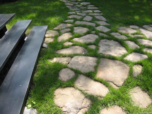 одном садовые дорожки из камня фото окраске способствует особое