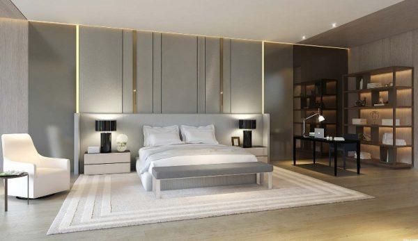 гостиной спальни в современном стиле