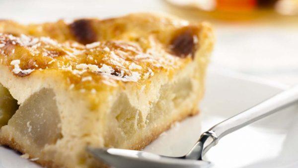 desert tvorozhnaja zapekanka s jablokami tvorog manka razrykhlitel jabloki limonyj sok 1