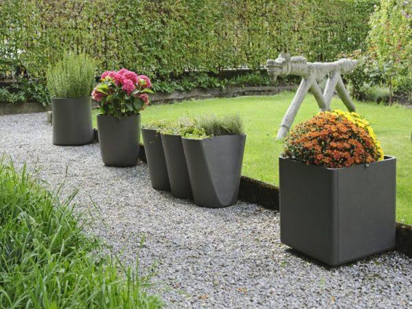 Сад в контейнерах. Контейнер для цветов из простых материалов по умному