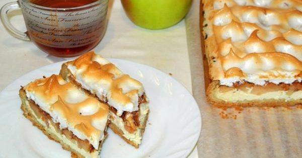 Рецепт удивительного пирога с яблоками и творогом. Невероятно вкусно!