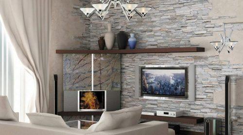 Применение декоративного камня в оформлении интерьера